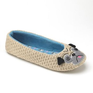 SO Pug Ballerina Slippers $24.00 at Kohl's