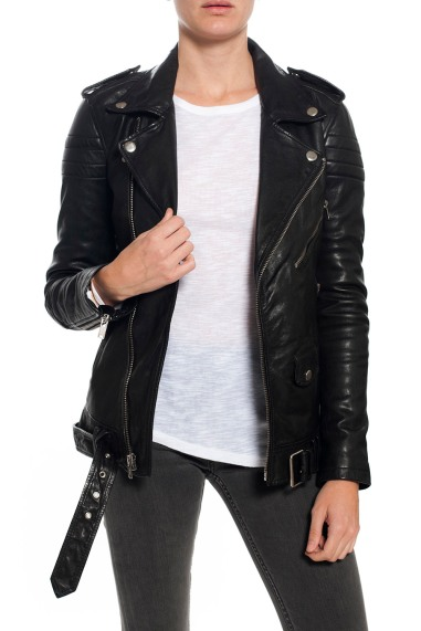 BLK DNM Masculine Leather Jacket - Black $895 at Madison Los Angeles