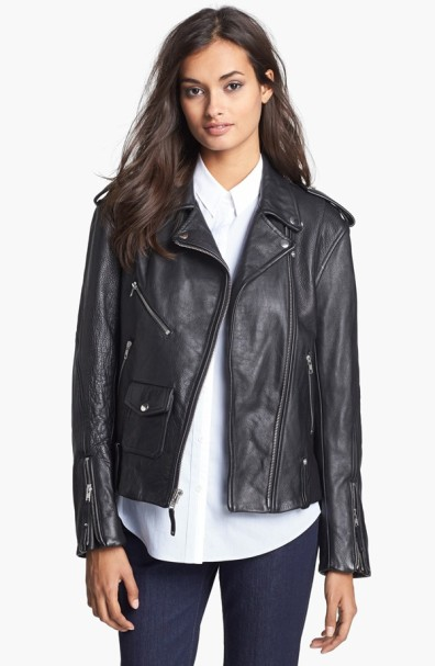 Theory Dalayan Leather Moto Jacket $1,295.00 at Nordstrom