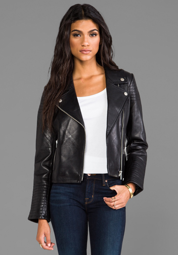 Dakota Collective Daniel Leather Moto $495 at Revolve Clothing