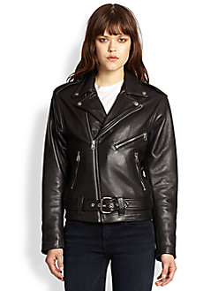 Laer Classic Moto Leather Jacket $836 at Saks Fifth Avenue