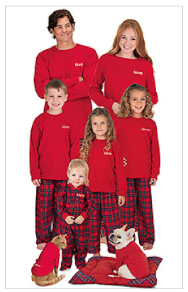 Plaid Family Pajamas  $35 - $60 at PAJAMAGRAM