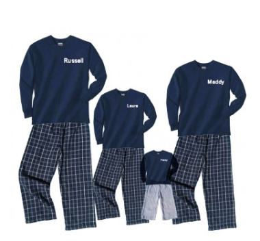 Personalized Family PJ Sets $35 each at FOOTSTEPCLOTHING