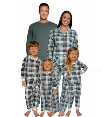Tartain Plaid Family Matching Pajamas $20 - $50 at SLEEPYHEADS