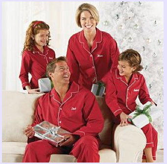Personalized Red Family Pajama Set $25 - 40 at PERSONALIZED CREATIONS