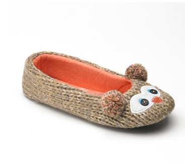 SO Owl Ballerina Slippers $24 at Kohl's
