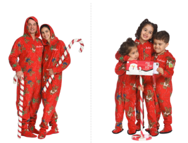 Gingerbread Family Footed Pajamas $69 - $33 at SNUG-A-BUG