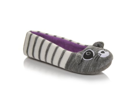 Y-Not Womens Raccoon Ballet Slippers $17 at Shoe Carnival