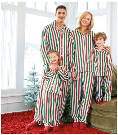 Candy Cane Stripe Family PJs $49 - 39 at CHASING FIREFLIES