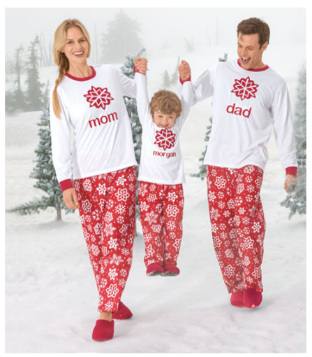 Personalizable Snowflake Family PJs $60 - $40 at CHASING FIREFLIES