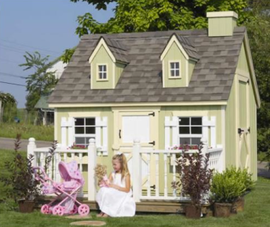 Cozy Cottage Playhouse $1099+ at SWEET RETREAT KIDS
