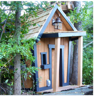 Rustic Topsy-Turvy Mountain Lodge Playhouse $2,449 at POSHTOTS