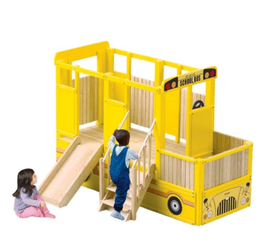 Guidcraft School Bus Playset & Loft $1,899 at BROOKSTONE