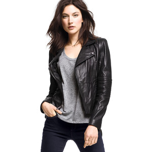 Victoria's Secret Leather Jacket $298 (Temporarily on sale for $238.40) at Victoria's Secret