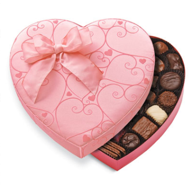 Pink Scroll Heart  $39.50 at See's Candies
