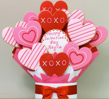 Valentine's Day Hearts Cookie Bouquet $$49.99 at Shari's Berries
