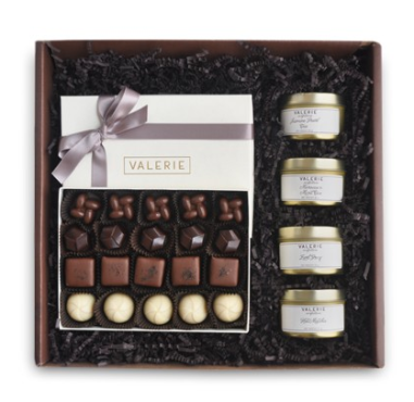 Tea & Chocolate Gift Set $80 at Valerie Confections