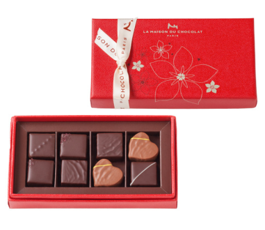 Floral Chocolates Gift Box 8 Pieces $34 at La Maison Du Chocolat