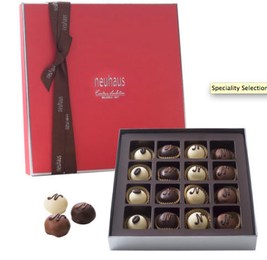 Specialty Selection Manon Set, 16 Pieces $35 at Neuhaus Chocolate