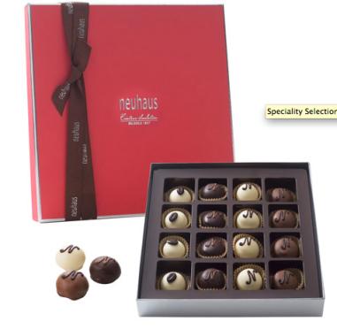 Specialty Selection Manon Set, 16 Pieces $35 at Neuhaus Chocolate