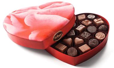2014 Heart Box, 28 Piece $58 at DeBrand Fine Chocolates