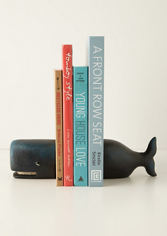 Victorian Whale Bookends $68 at Anthropologie