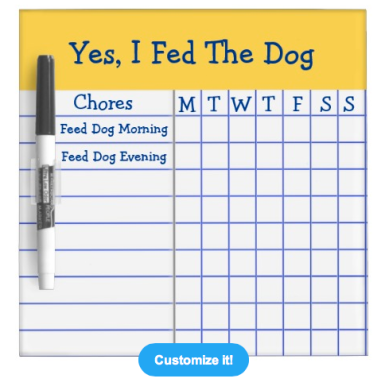 Yes I Fed The Dog Dry Erase Board $17.95 at Zazzle